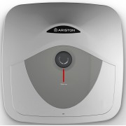 Boiler Ariston Andris RS 10 U EU, 1200 W, Montare Sub Chiuveta, Presiune Maxima 8 Bari, Rezervor 10 Litri, Control Mecanic, Alb cu Gri