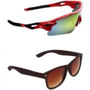 Zyaden Combo of 2 Sunglasses Sport and Wayfarer Sunglasses- COMBO 2709