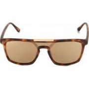 Daniel Klein Rectangular Sunglasses(Brown)