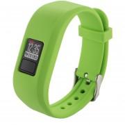 Para Garmin Vivofit 3 Smart Watch De Silicona Ajustable, Longitud: Acerca De 24.2cm (verde)