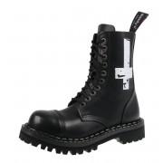 Unisex Lederstiefel Boots - STEADY´S - STE/10/H_Cross Weiß