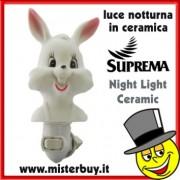 LUCE NOTTE SUPREMA CONIGLIO CERAMICA
