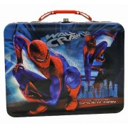 The Amazing Spiderman Wall Crawler Embossed Metal Lunch Box/ Carry-All