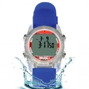 Knox Watches WobL+ World's Smallest & Best Waterproof Vibrating 9 Alarms + Countdown Timer Wristwatch (Blue) Sports/Medicine/Meeting/Potty Reminders