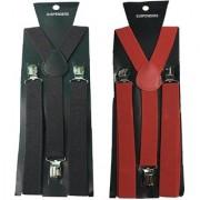 Suspender for Men Y-Shaped Back set of 2 Buy Online at best Price Color Black and Red