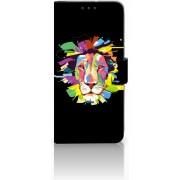 Motorola Moto G7 Power Uniek Boekhoesje Lion Color