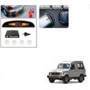 Auto Addict Car White Reverse Parking Sensor With LED Display For Maruti Suzuki Gypsy