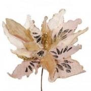 Ornament floare brad Craciun crem