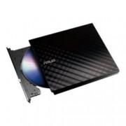 Asus SDRW-08D2S-U LITE, външна, USB 2.0, черна