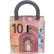 Merkloos Rode spaarpot 10 euro biljet 25 cm