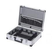 Cutie aluminiu pentru scule 44x36x14,5 cm, cu compartimente