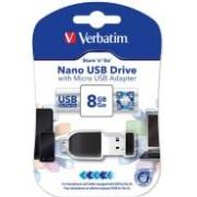 USB memorija 8 GB Verbatim Nano Store'n'Stay nanoUSB 2.0/microUSB