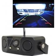 PZ-451 Auto Camera LED-verlichting Parkeersensor 3 in 1 nachtzichtcamera Monitor met zoemer, DC 12V, 720 x 504 pixels, lenshoek: 120 graden