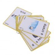 MagiDeal Kids Early Learning Flash Cards Set Educational Picture & Letter Card Pack - Illness - 14 Pieces