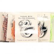 Snake Bite Yo-Yo Strings - 100% Polyester Multicolor - 30 String Sample