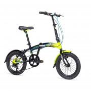 Bicicleta Mercurio FOLDING Plegable R16 6v Negro/Verde Neon 2018