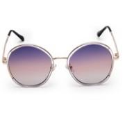 MARC LOUIS Round Sunglasses(Violet)