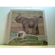 """Know & Grow Wooden Jigsaw Puzzle - Elephant - 3+ years (20 Pieces) 6.75"""" x 6.75"""""""