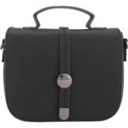 Gio Collection Women Black Genuine Leather Sling Bag