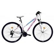 "Bicicleta Dama DHS Teranna 2922, Roti 29"" (Alb/Roz)"