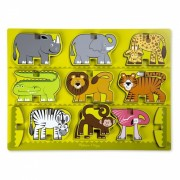 Puzzle in relief Animale de la Zoo Melissa and Doug
