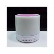 Mini Bluetooth Inalámbrico Altavoz Shuua S71U Soporte TF USB Con LED Para Samsung Sony Iphone - Rosa