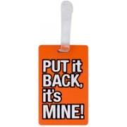 Way Beyond Orange Durable Rubber Luggage Travel Bag Tag / Luggage Tag(Orange)