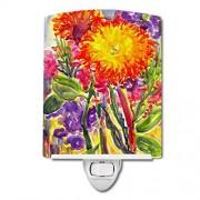 """Caroline's Treasures Caroline 's Treasures Flower-Aster cerámica luz de Noche, 6 x 4"""", Multicolor"""