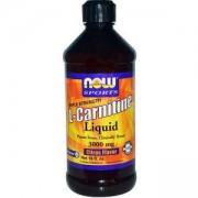 Л-Карнитин течен 465 мл. - L-Carnitine Liquid Citrus 3000мг. - NOW FOODS, NF0064