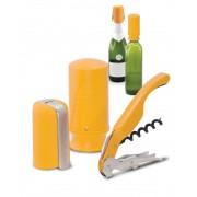 Bor- és pezsgőnyitó szett, citromsárga színben, Pulltex®