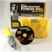 Everlast - minge pentru fitness si aerobic - 55 cm diametru - cu pompa si DVD pt. exercitii