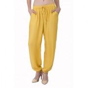 Kavya Fashion Solid Yellow Color Pyjama
