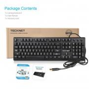 TeckNet X703 LED Illuminated Gaming Keyboard - геймърска клавиатура с LED подсветка (за PC)