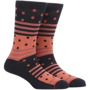 Soxytoes Ribbons And Rolls Black Cotton Calf Length Pack of 1 Pair for Men Formal Socks (STS0014A)