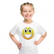 Shoppartners Smiley t-shirt super vrolijk wit kinderen