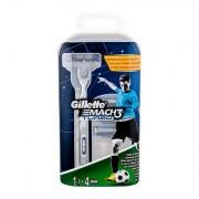 Gillette Mach3 Turbo sada holicí strojek s jednou hlavicí 1 ks + náhradní hlavice 3 ks pro muže