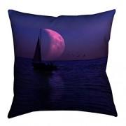 ArtVerse David khieu Luna y velero X 66cm pillow-spun inserto de impresión con cierre oculta de doble cara & de poliéster