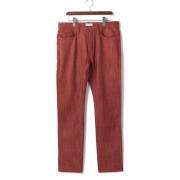 【80%OFF】LUKE カラーデニム レッド 28 ファッション > メンズウエア~~パンツ