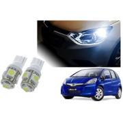 Auto Addict Car T10 5 SMD Headlight LED Bulb for Headlights Parking Light Number Plate Light Indicator Light For Honda Jazz