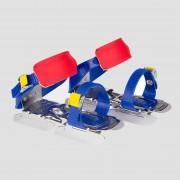 NIJDAM Glij-ijzers blauw/rood kinderen