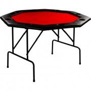 Póker asztal 8 személyes GARTHEN - piros