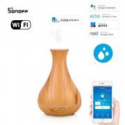 Wifi inteligentný ultrazvukový aróma difuzér svetlé drevo