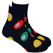 Soxytoes The Cue-Rius Case Of Soxytoes Black Cotton Ankle Length Pack of 1 Pair Unisex Casual Socks (STS0011F)