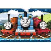 Puzzle maxi Thomas - Locomotive fericite, 24 piese