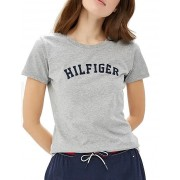 Tommy Hilfiger Tricou de damă Cotton Iconic Logo SS Tee Print UW0UW00091-004 Grey Heather M