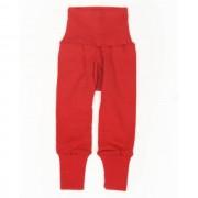 Cei mai comozi pantaloni Cosilana din lână merinos si mătase - Rosu