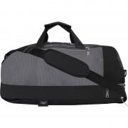 Swisstek Duffle Cum Back pack / Sports bag Travel Duffel Bag (Black, Grey)