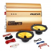 "Auna 2.0""Golden Race V3"" Set HiFi coche amplificador altavoces"