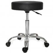 Scaun cu rotile cu înălțimea reglabilă pentru cosmetice negre, coafură, machiaj pentru casă sau birou? Da!