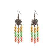 Cercei coral multicolor